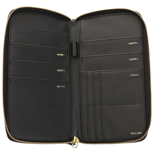 <<F1 T5 COLLECTION FAMILY PASSPORT WALLET>> ファミリーパスポートウォレット  ブラック / 50370-01
